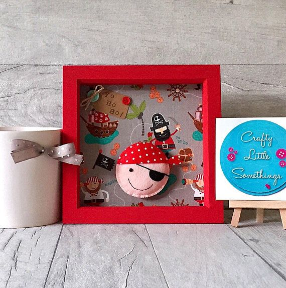Pirate Picture Gift 3d Box Frame Picture Personalised Gift Pirate