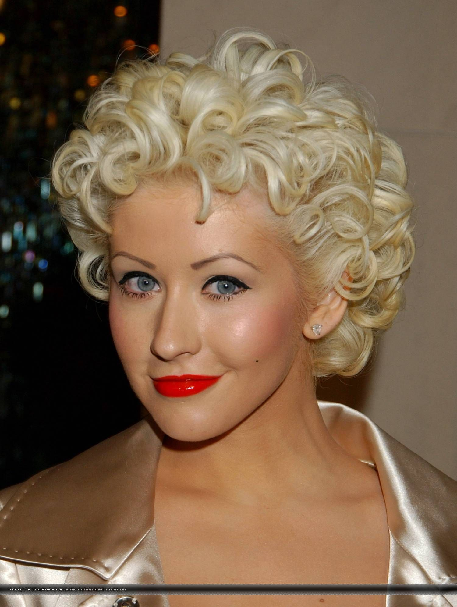 Xtina Web Com Photo Gallery Click Image To Close This Window Short Hair Styles Short Wedding Hair Curly Hair Styles