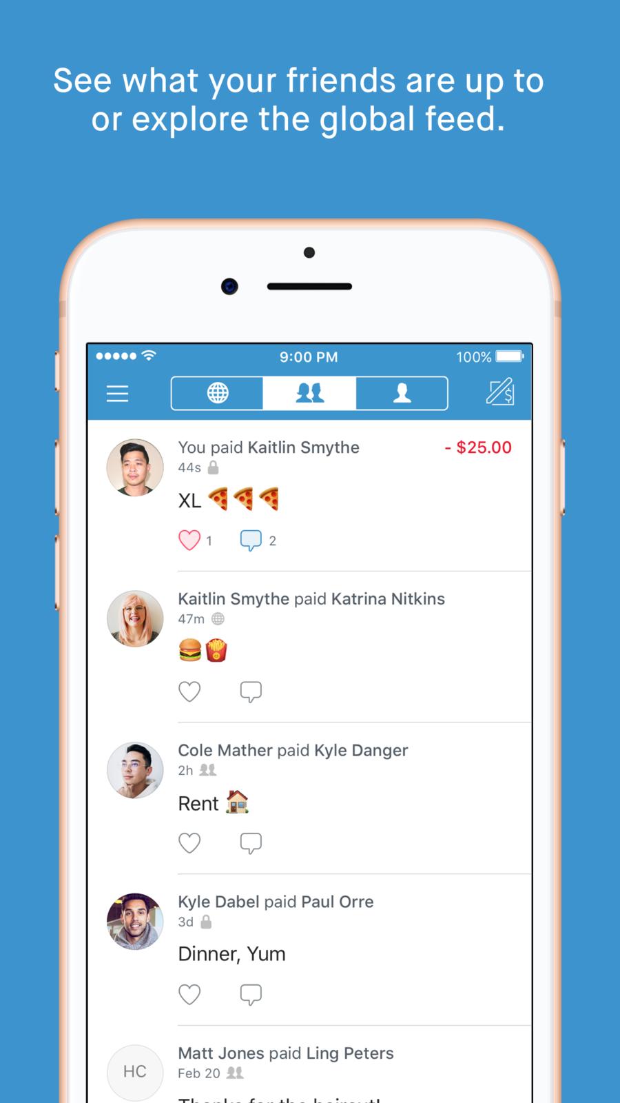 Venmo Send Digital wallet, App, App design