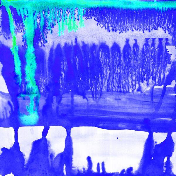 Dip Dye Ultramarine Art Print by Amy Sia