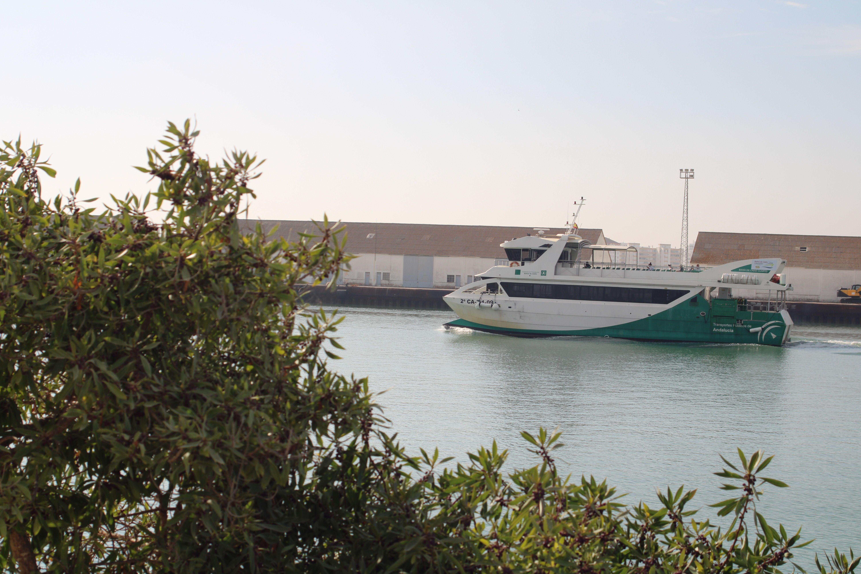 rumbo al embarcadero del río Guadalete en El Puerto de Santa María