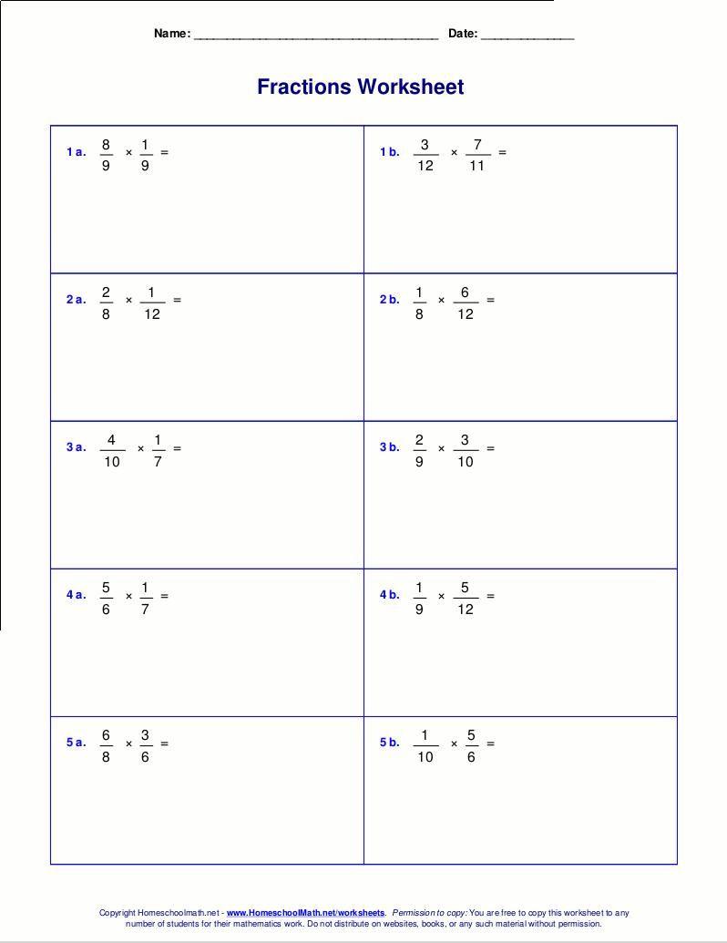 Multiplication Arrays Worksheets Grade 5   Fractions worksheets [ 1035 x 798 Pixel ]