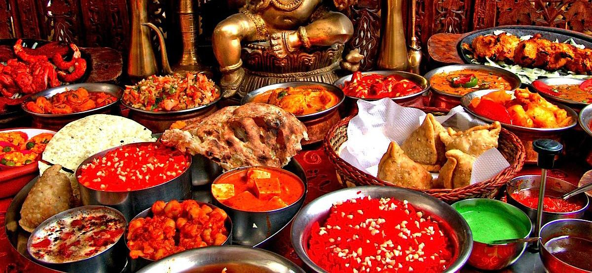 Comida #hindu del #restaurante #indian #tandoori Taj Palace a ...