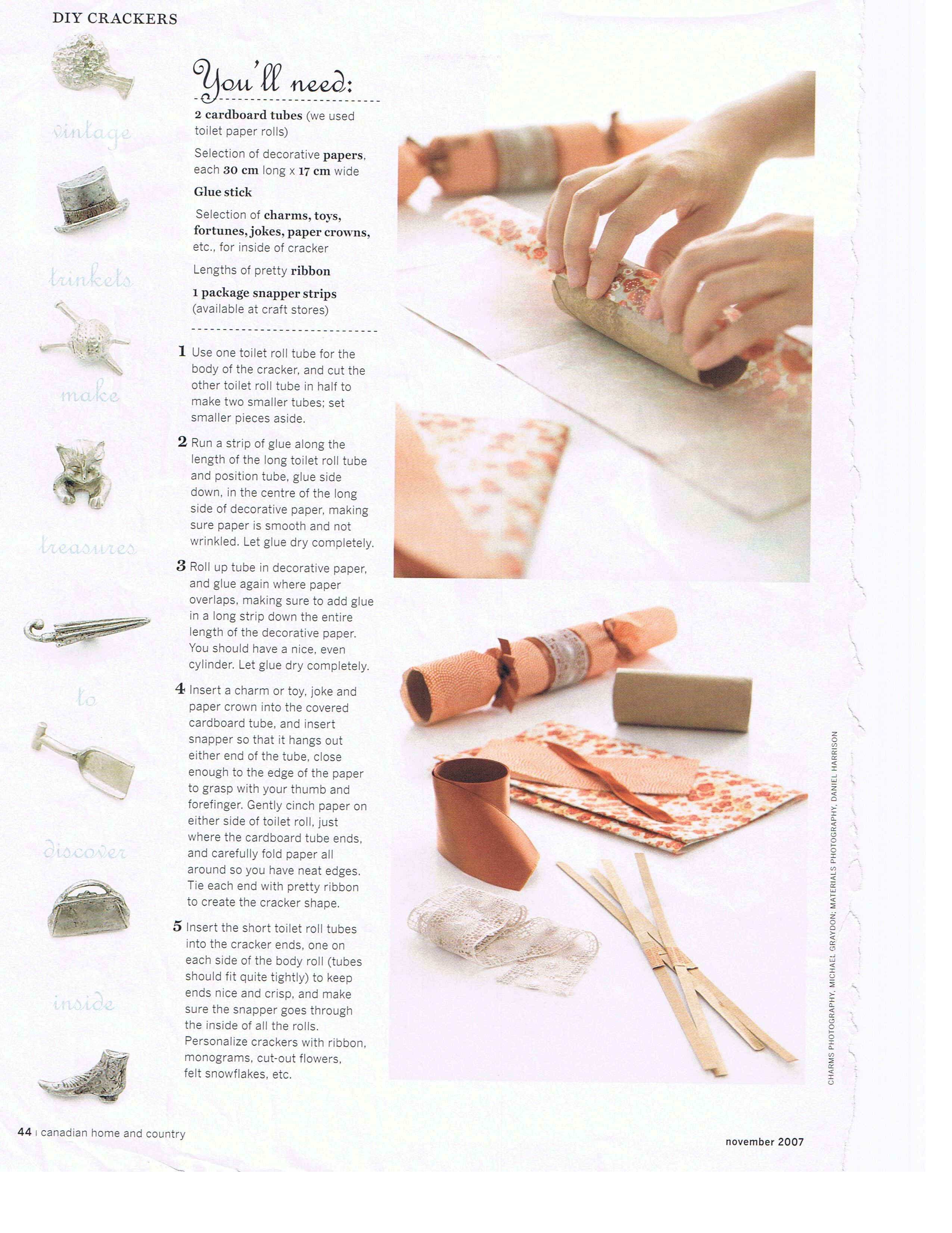 Instructions on how to make your own christmas crackers xmas instructions on how to make your own christmas crackers solutioingenieria Choice Image