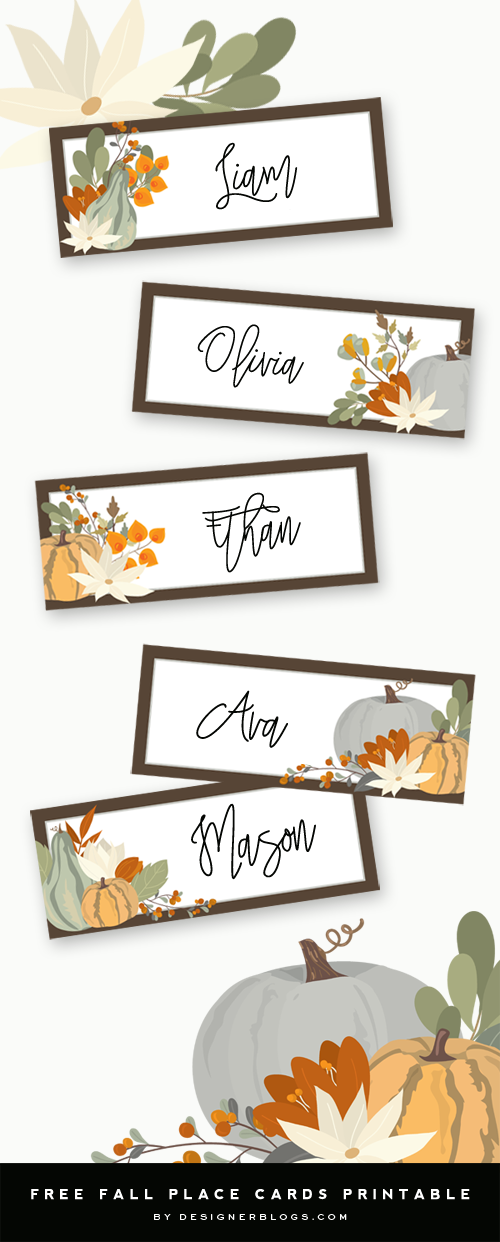 Free Thanksgiving Place Cards Printable Perfect For Table Decoration Thanksgiving Place Cards Printable Thanksgiving Place Cards Thanksgiving Name Cards
