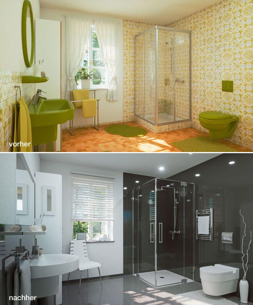 Ohne Fliesen Das Fugenlose Badezimmer Kleines Bad Umbau