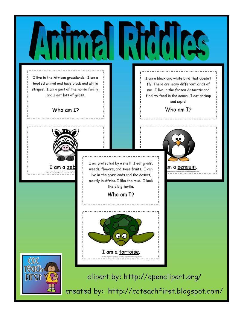 22 Animal Riddles Card Set   Teaching [ 1056 x 816 Pixel ]