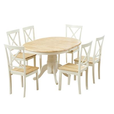 kitchen table and 6 chairs uk big lots computer chair bartett extendable dining set with pinterest found it at wayfair co