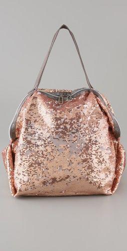 pink sparkle purse