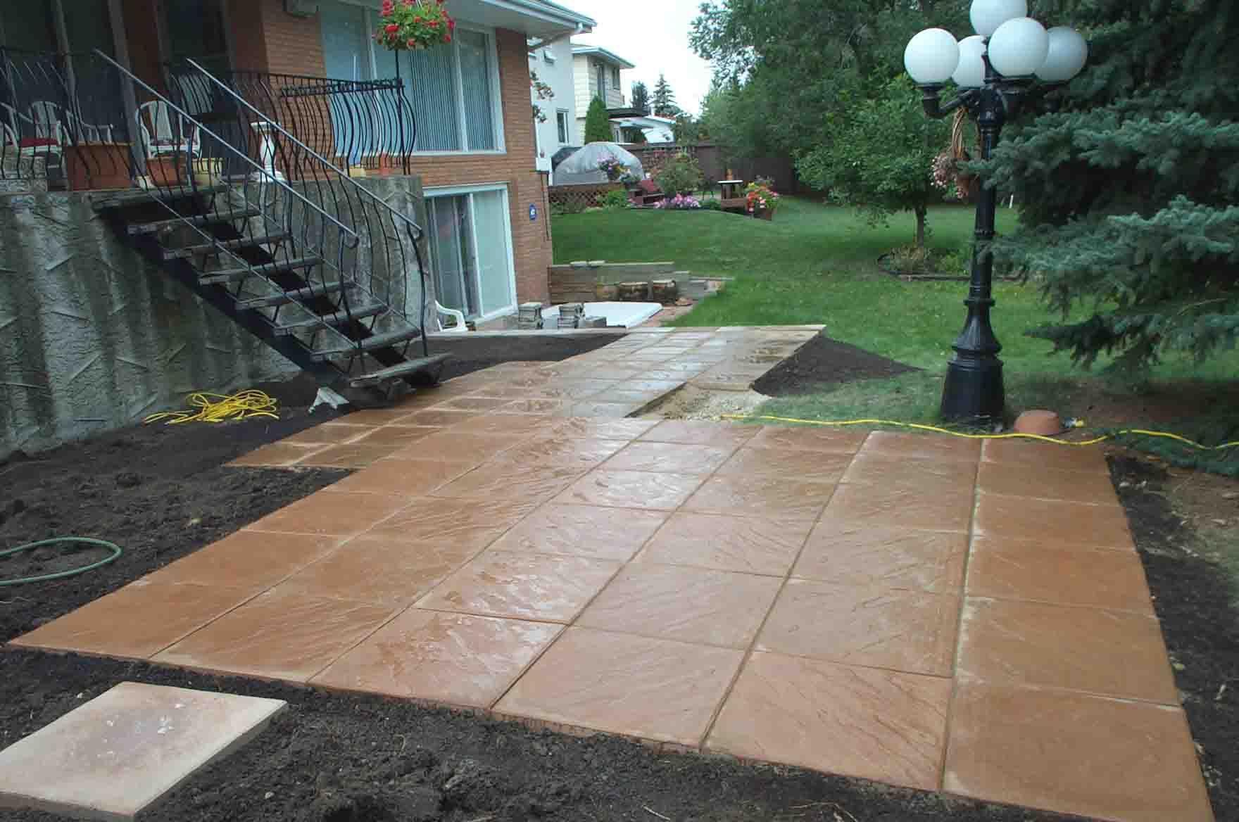 Concrete block patio patio patio blocks cement patio