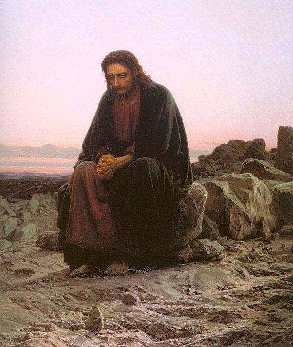 Αποτέλεσμα εικόνας για ivan kramskoy christ in the desert 1872