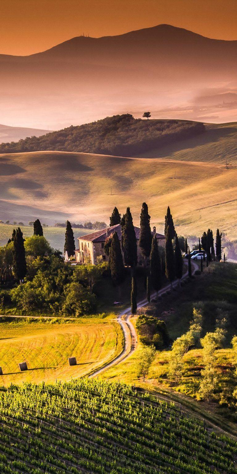 خلفيات شاشة موبايل سامسونج 2018 Tecnologis Tuscany Landscape Landscape Wallpaper Iphone Wallpaper Landscape