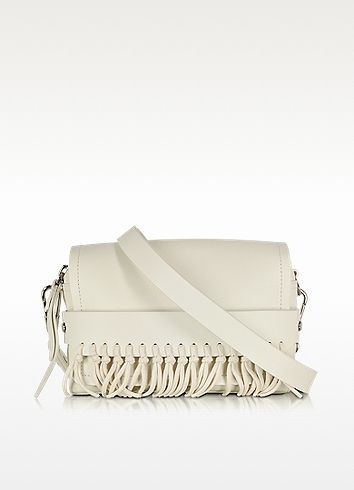 Bianca Small Off White Flap Crossbody With Fringe - 3.1 Phillip Lim