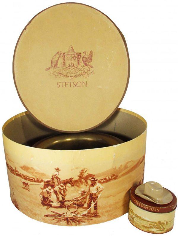 Stetson Cowboy Hat Box Miniature Hat With Box Vintage Hat Boxes Stetson Cowboy Hats Stetson Hat