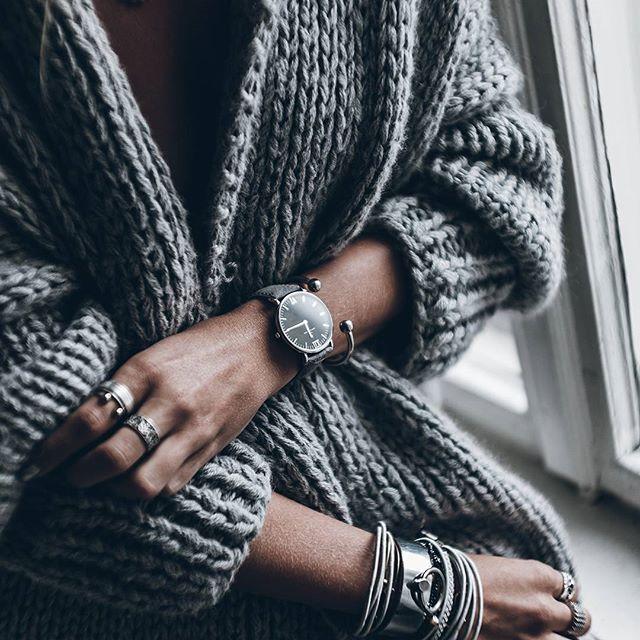 "silver ""black grey vintage leather"" @mikutas | kapten-son.com"