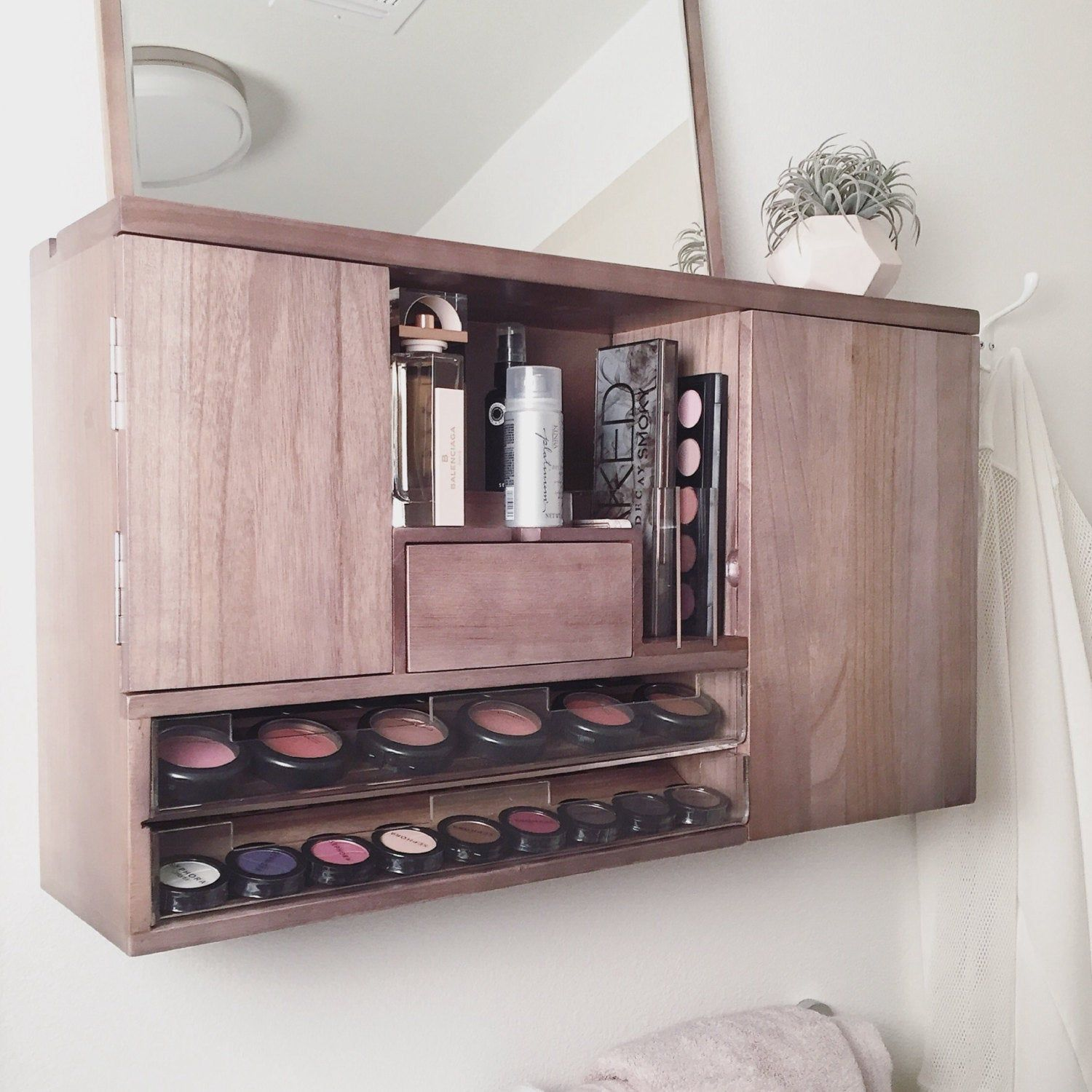 Wall Mounted Makeup Organizer Vanity PreOrder Ship by