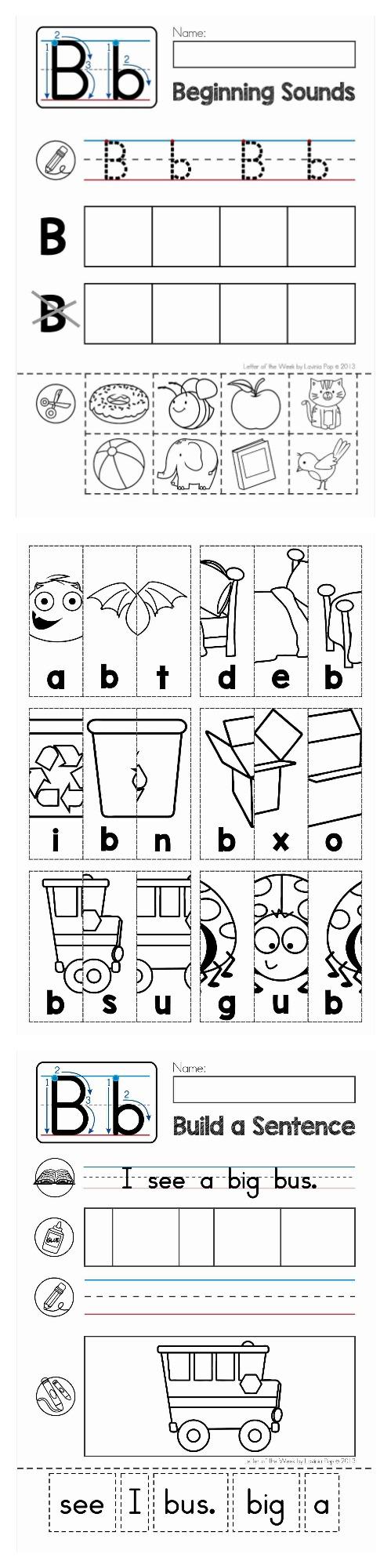 alphabet phonics letter of the week b teaching techniques alphabet phonics phonics. Black Bedroom Furniture Sets. Home Design Ideas