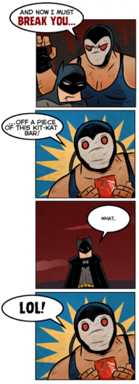 "If Christopher Nolan had this happen in ""The Dark Knight Rises… well, I won't say that I'd be happy, but I'd probably laugh pretty hard. (Daily DCU)"""