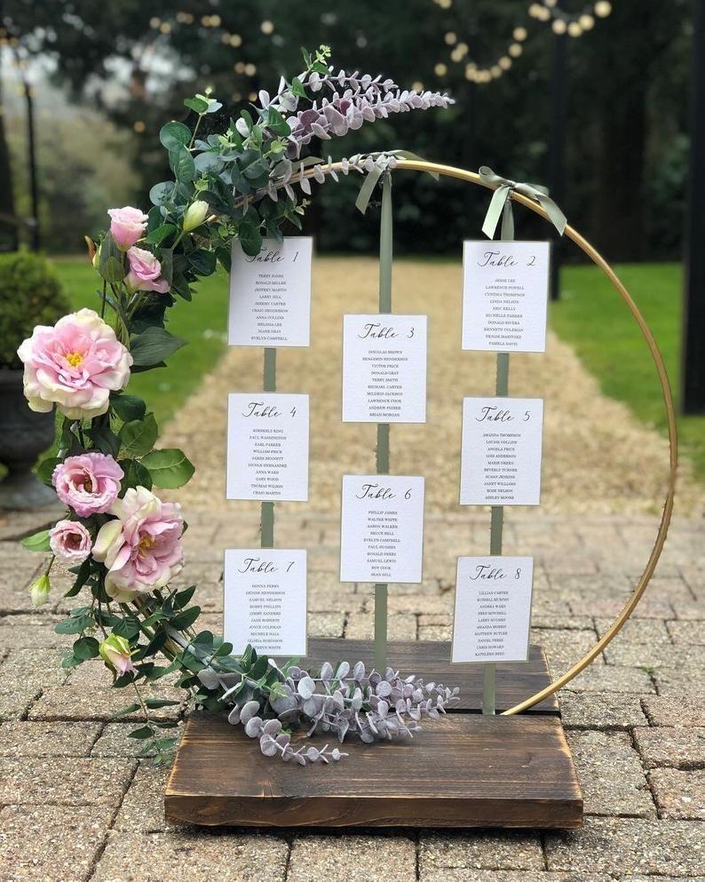 Stand de cerceau de plan de table ou stand de pièce de centre. idéal pour les mariées de bricolage, fleuristes et commodes de lieu
