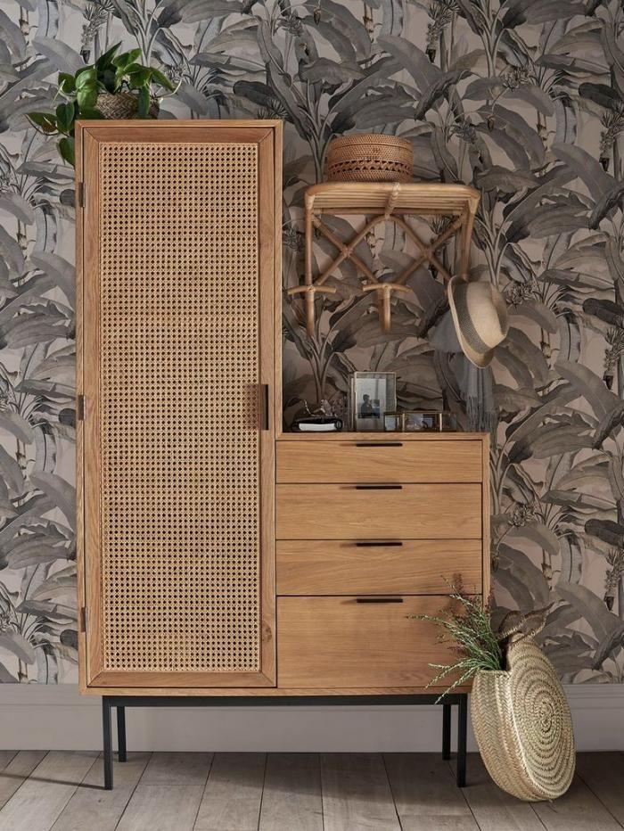 Ou Trouver Une Armoire En Cannage Joli Place En 2020 Decoration Meuble Idees De Decor Mobilier De Salon