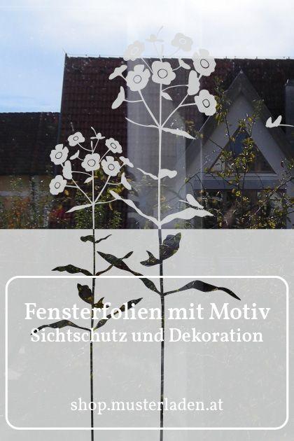 Dekorativer Sichtschutz Mit Blumen Fenster Klebefolie Floral