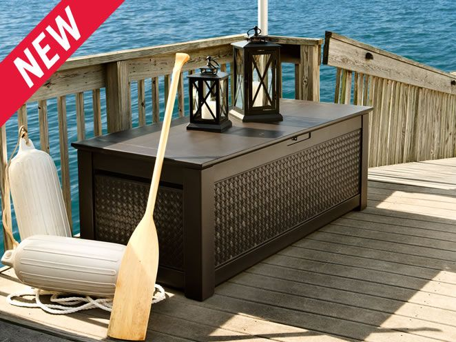 With All The Stylish Details Of Modern Outdoor Furniture Rubbermaid Patio Chic Storage Trunk