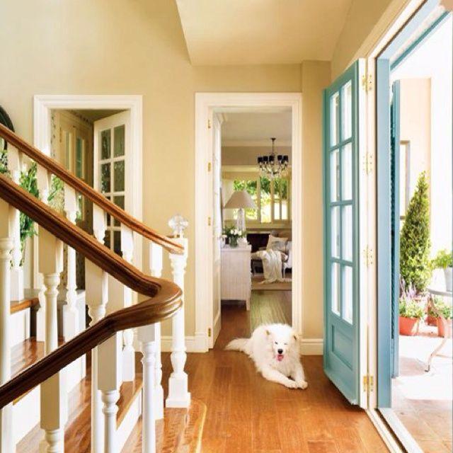 white floors blue doors - Google Search