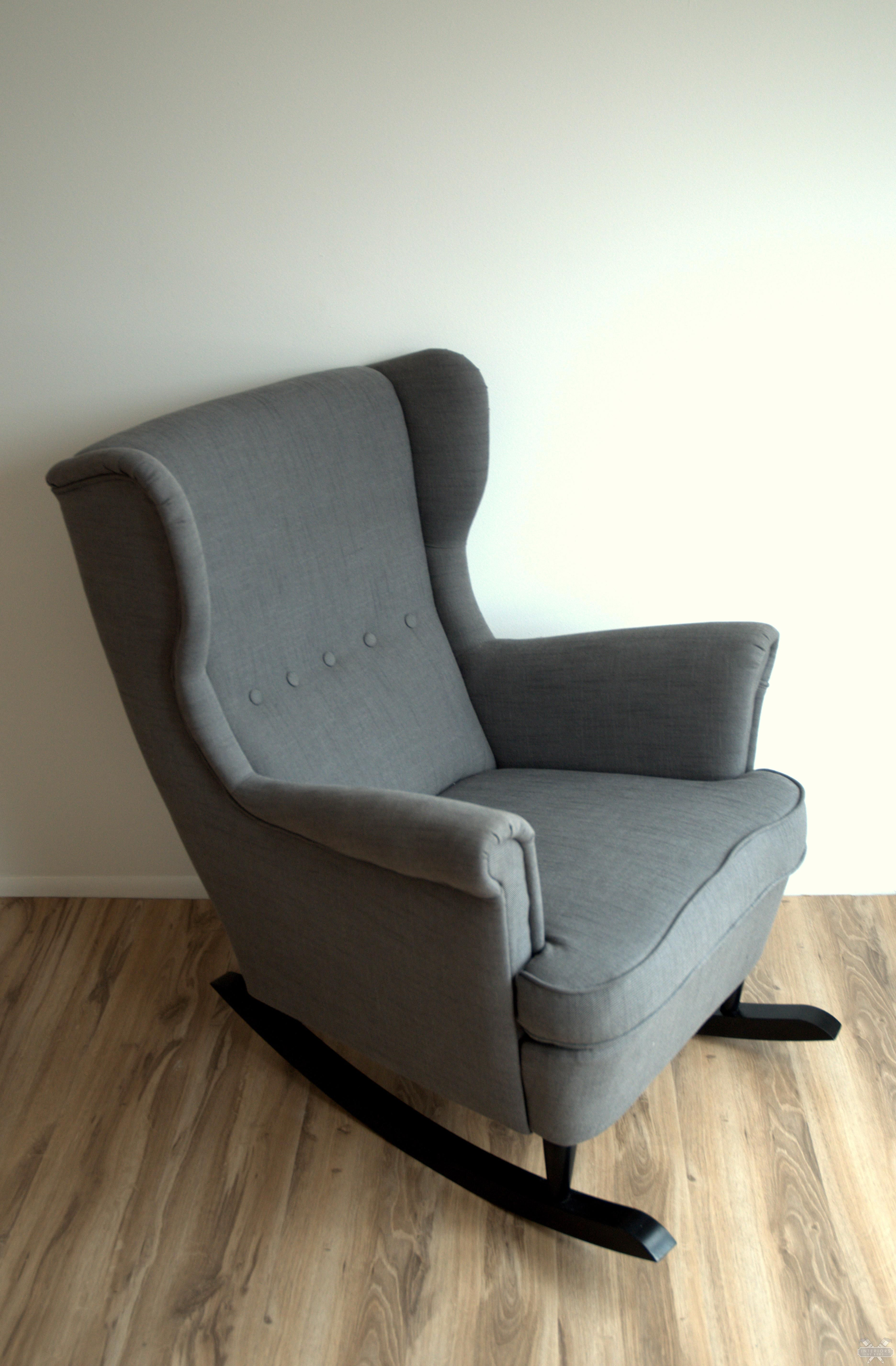 IKEA Hack Strandmon Rocker {DIY Wingback Rocking Chair