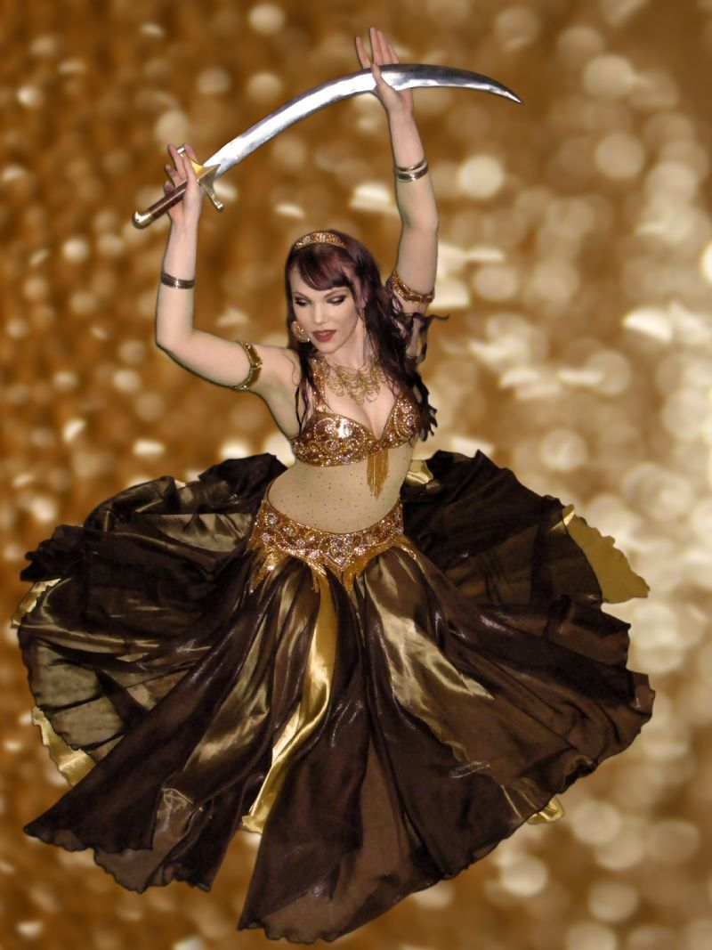 c63e02e08 Gold bronzey Dahab by Rebecca | The Belly Dance Costume Archive | Photo:  Tommy Holmberg