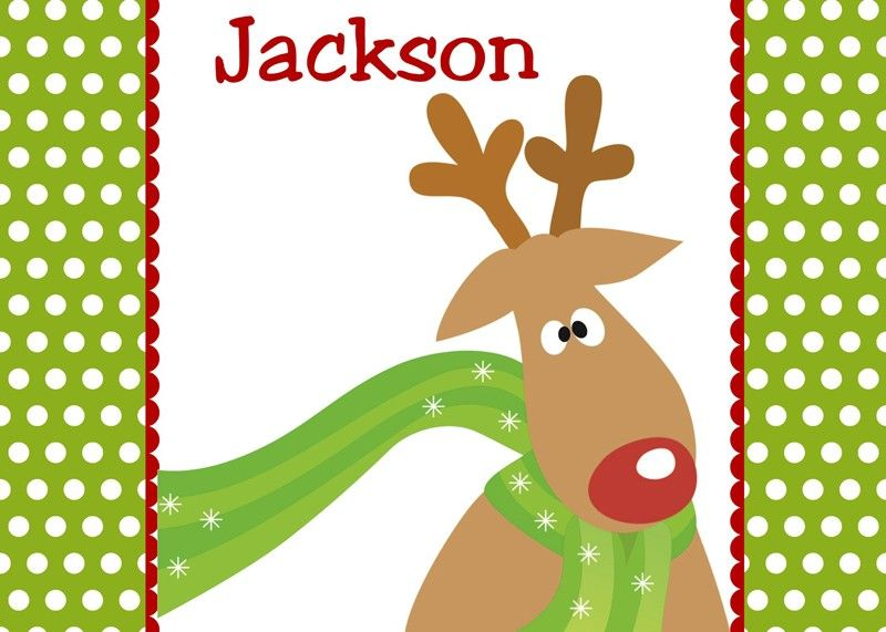 Funky Reindeer Personalized Puzzle
