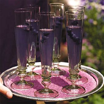Brides Magazine A Purple Party Wedding Food Amp Drinks Gallery Champagne Grape Juice And