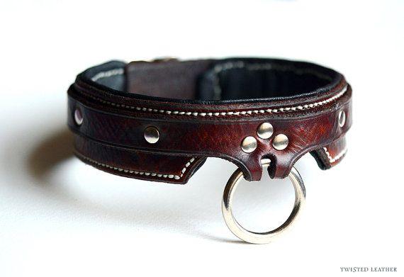 Bdsm Collar Leather Slave Collar Bondage By Twistedleatheruk More