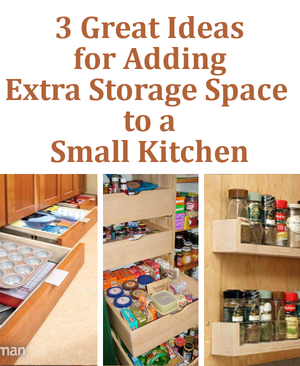 Small kitchen extra storage small kitchen refrigerator for Additional kitchen storage ideas