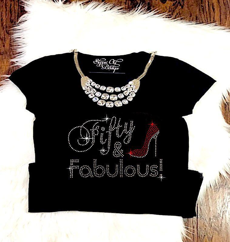 50th birthday Shirt for Women, Fifty and Fabulous, 50 and