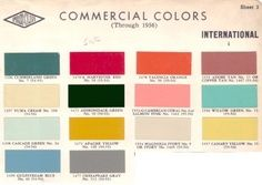 commercial colors 1950's | 1950's colors and style | pinterest