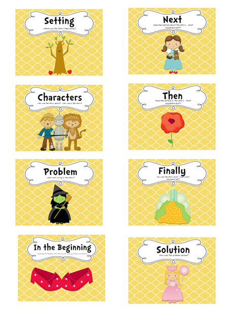 Follow the Yellow Brick Road story re-telling strategy. Lots of ...
