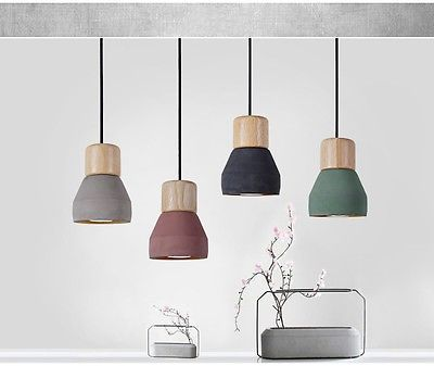 Nuova Industriale Moderne Cemento Lampadari da Cucina Sospensione Lampade Design  Cassettiere e ...