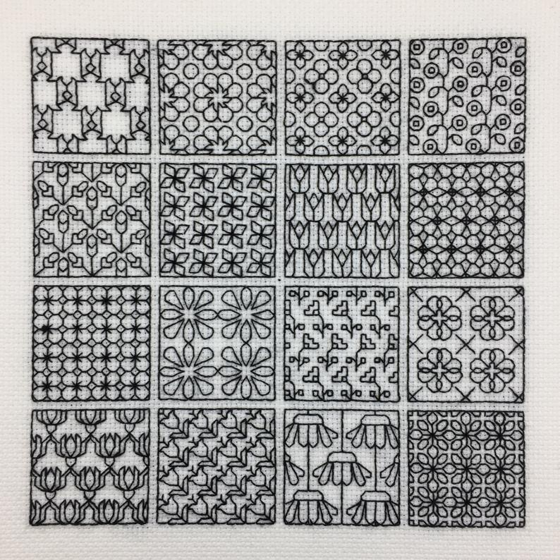 Elizabethan Blackwork Sampler cross stitch embroidery NEW Chart Pack
