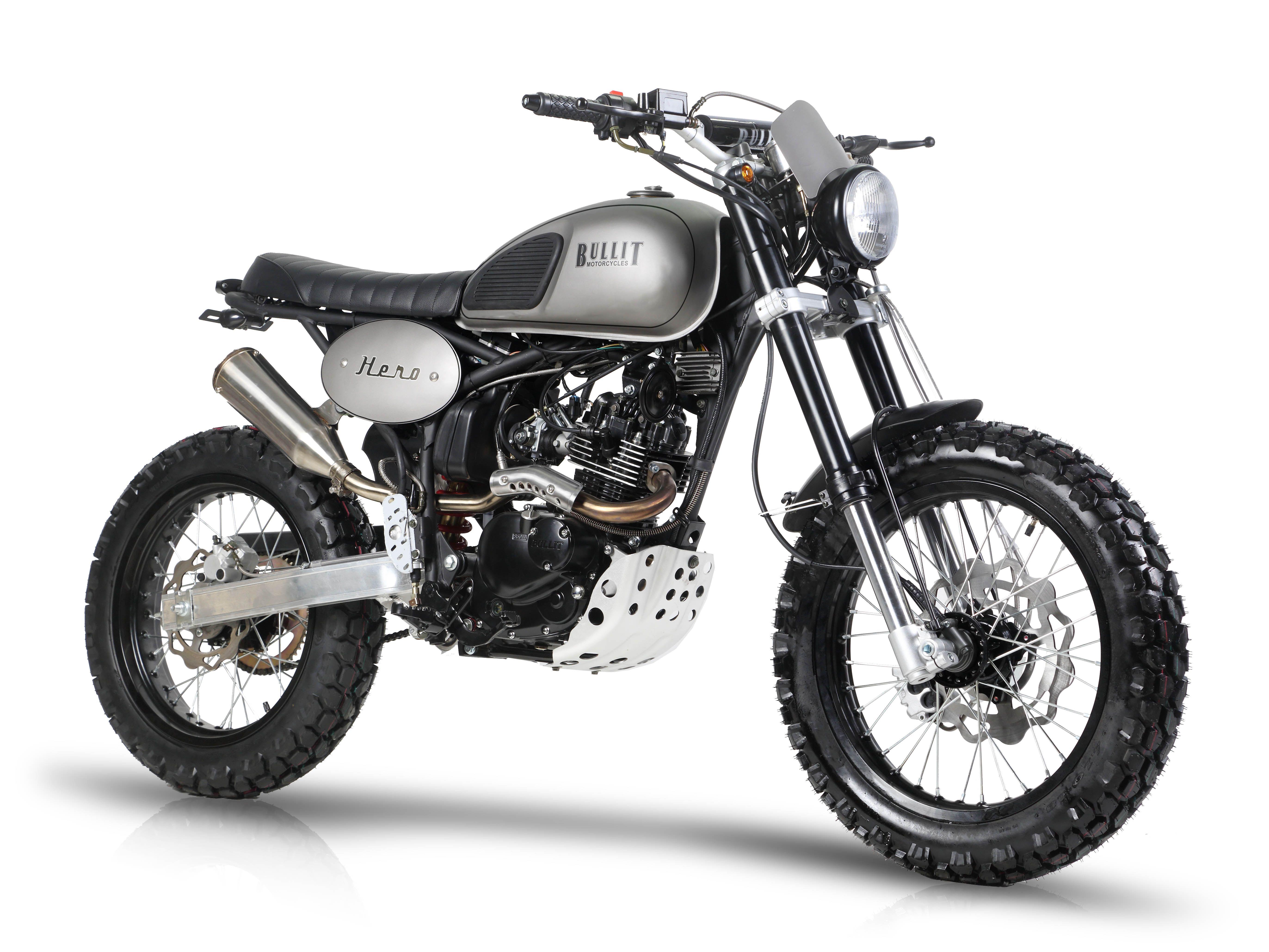 bullit motorcycles hero 125 tracker scrambler cafra. Black Bedroom Furniture Sets. Home Design Ideas