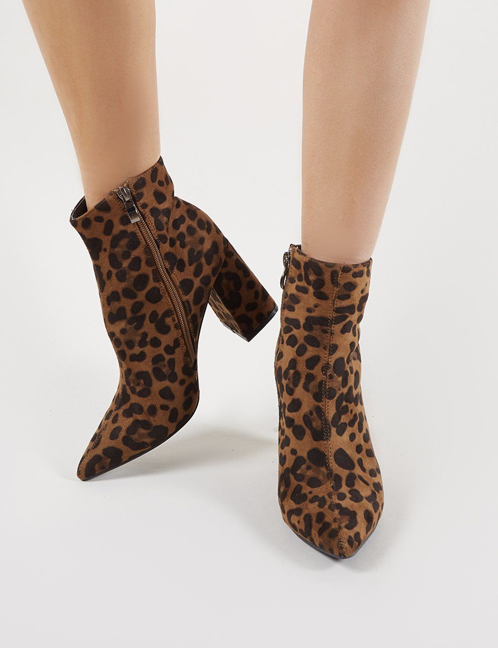 1148361f4c3 Empire Pointed Toe Ankle Boots in Leopard Print in 2019   clothin ...