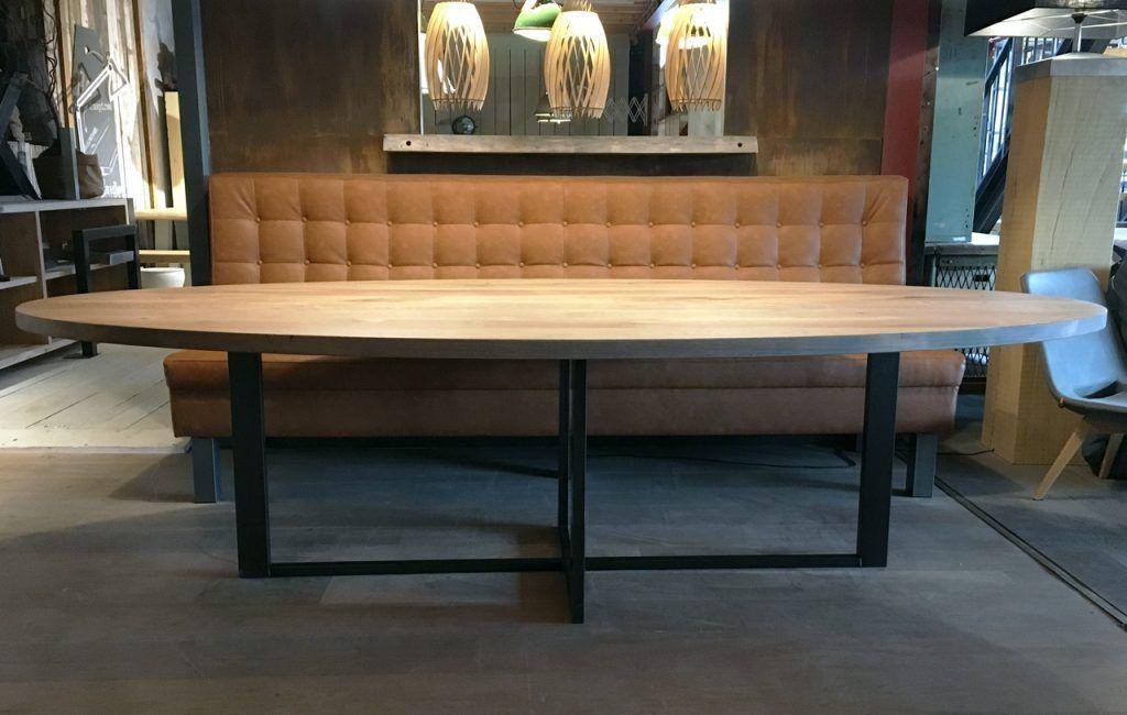 Eettafel Plus Bank.Ovale Tafels Zwaartafelen Made In Holland Robuuste Tafels