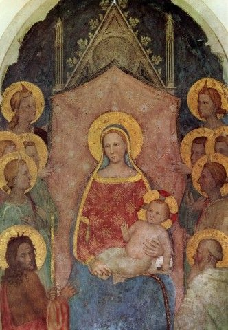 12) 200-203. Giottino, Madonna e Santi (da Tabernacolo di Via del Leone), 1360-1370. Firenze, Gallerie dell'Accademia.