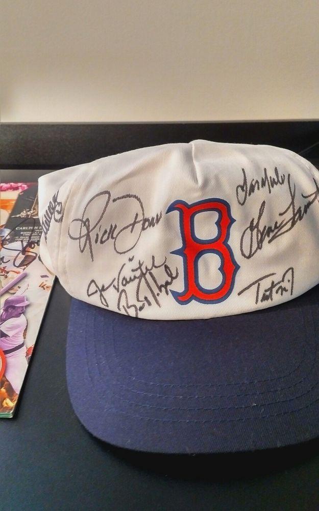 ... closeout boston red sox 2000 2001 autographed baseball snapback cap ebay  link f9384 26828 52bda70995d4