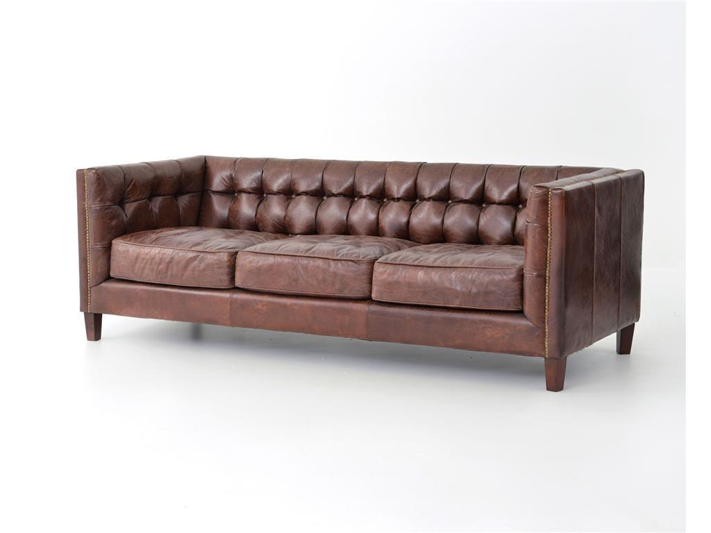 Four Hands Living Room Abbott 85 Sofa Cigar CCAR 57   Bob Mills Furniture