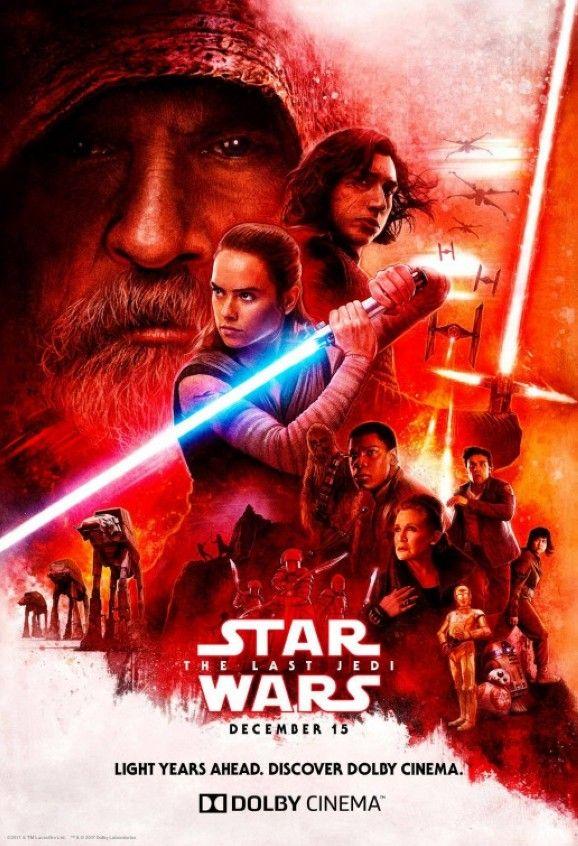 Star Wars The Last Jedi Dolby Poster Filme Sehen Star Wars Trivia Star Wars Episoden