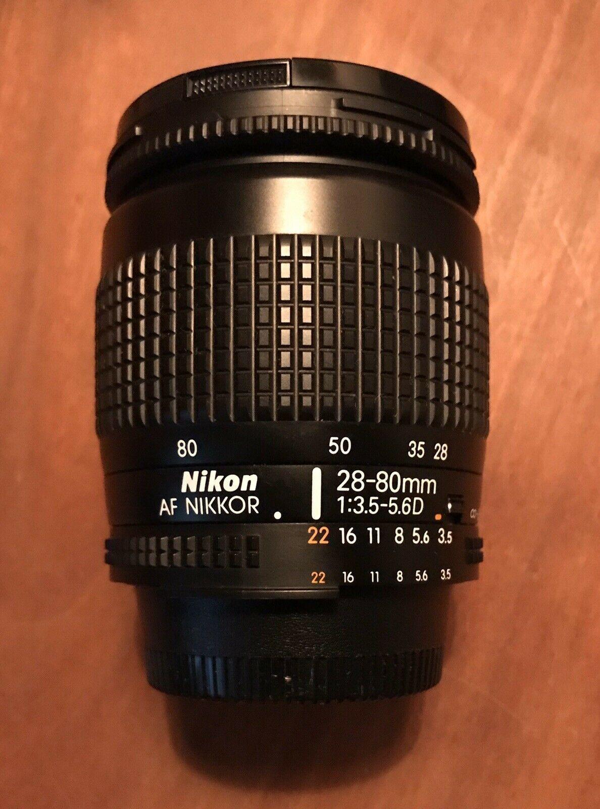 Mint Nikon Af Nikkor 28 80mm Lens F3 5 5 6 D Excellent Lenses Nikon Lens Powerade Bottle