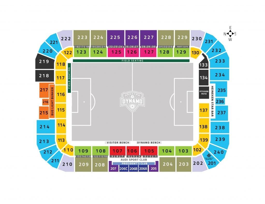 Bbva Compass Stadium Seating Chart Di 2020