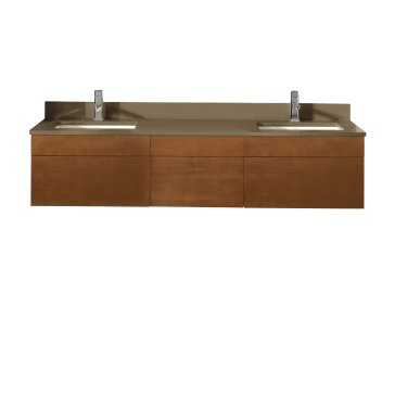 Ronbow Rebecca 64 5 8 Double Vanity With Drawer Bridge Rivera