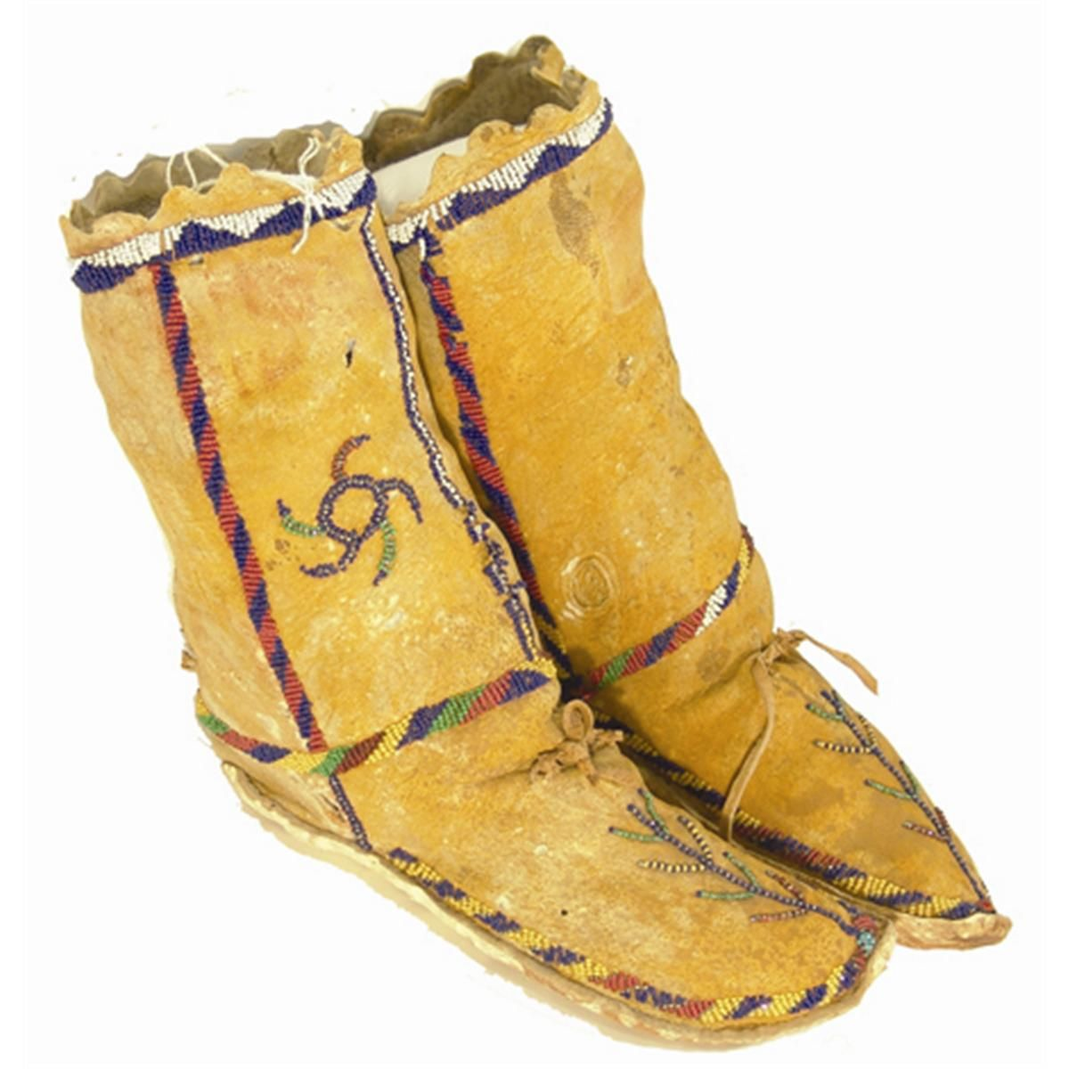 apache moccasins boots footwear tribal native