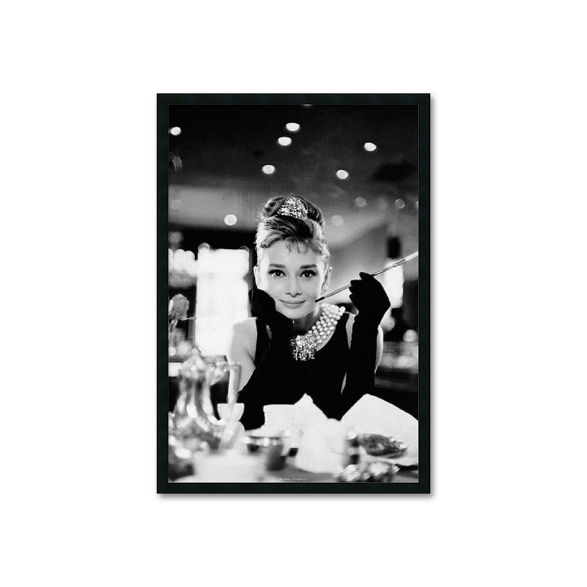 Amanti Art Audrey Hepburn, Breakfast at Tiffany\'s Framed Wall Art ...